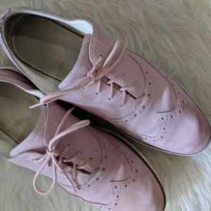 Cole Haan Pink Suede Wingtip Oxford